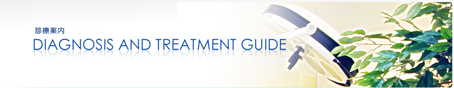 診療案内 DIAGNOSIS AND TREATMENT GUIDE